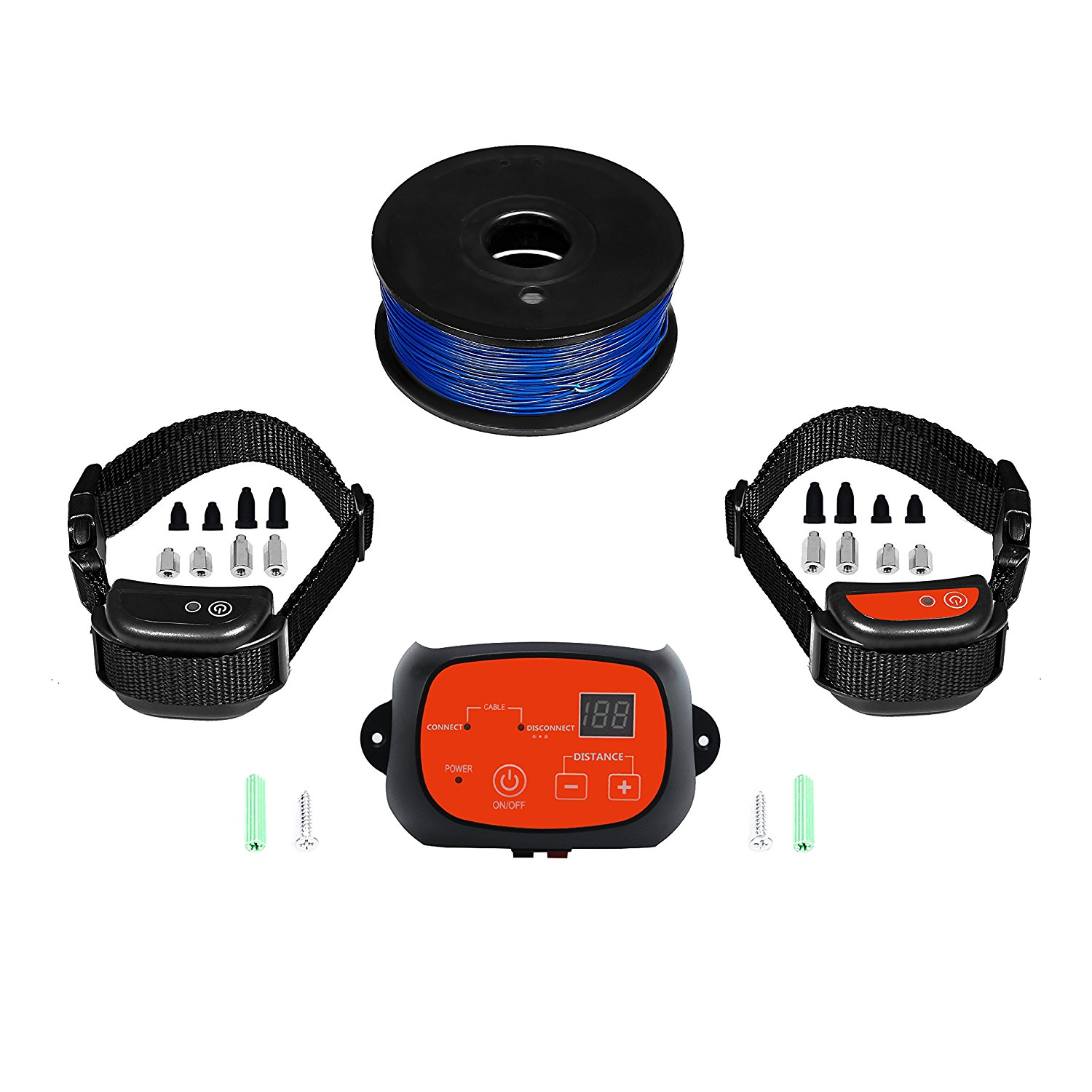 Dr. Tiger Electric Dog Fence with 2 Rechargeable Collars Featured