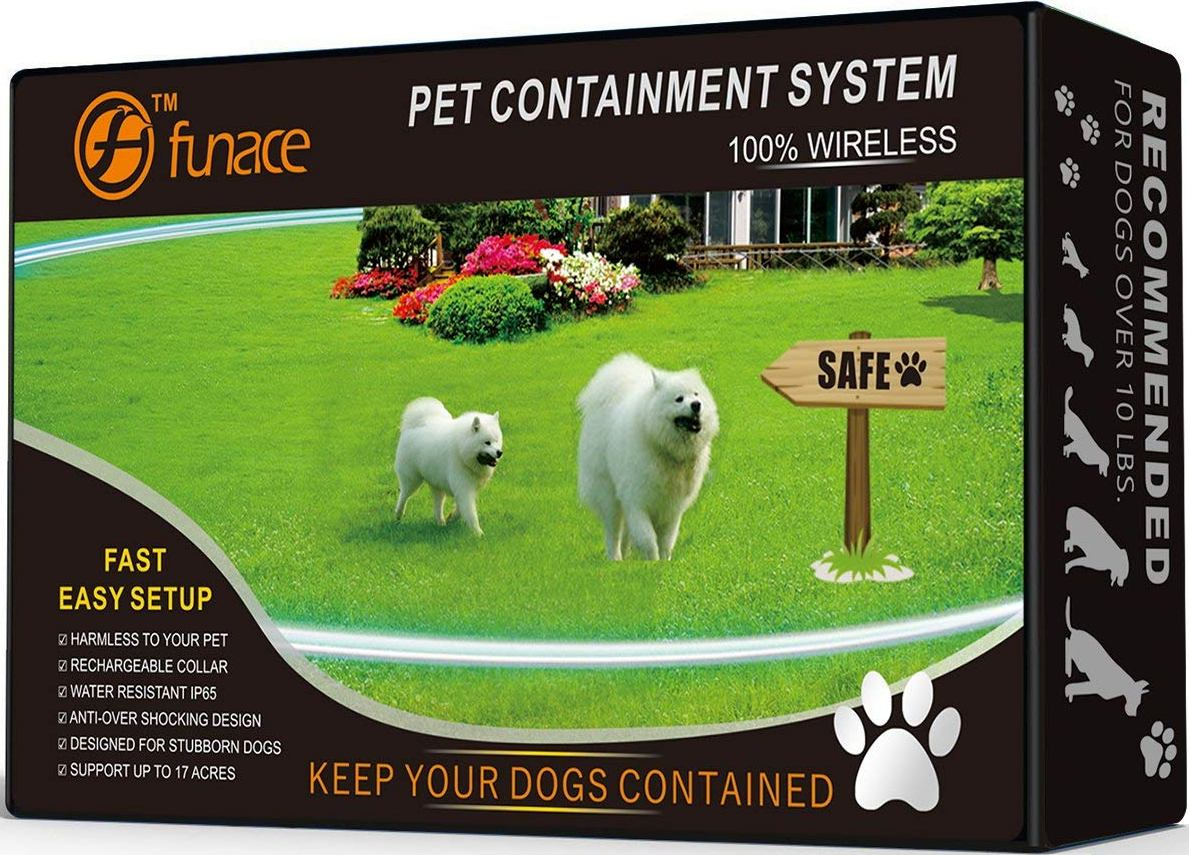 FunAce 100% Wireless 1-Dog Pet Containment System